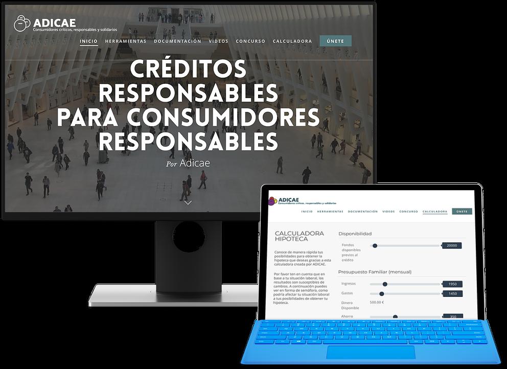 Página web Crédito Responsable para Adicae