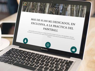 Diseño Página Web Paintball