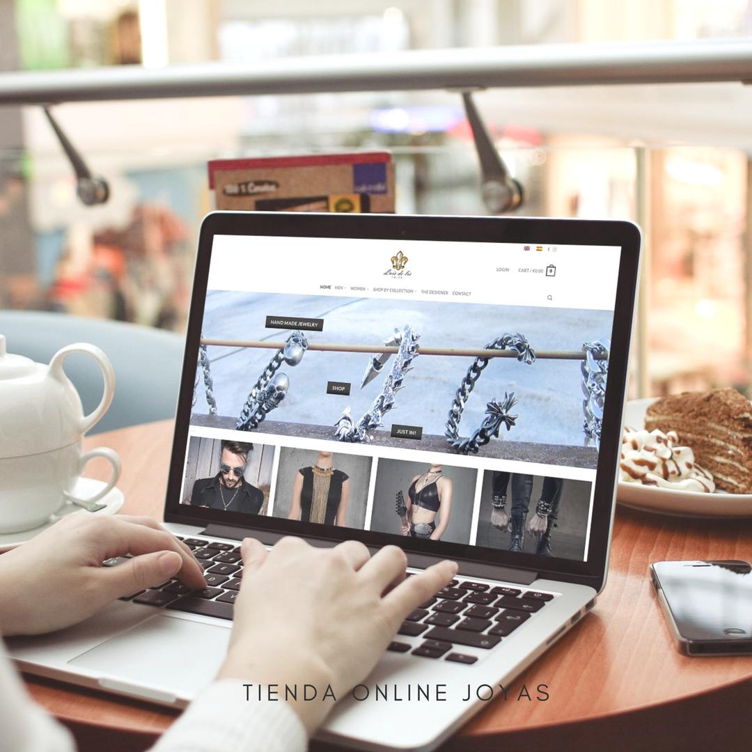 Diseño de tienda online para vender joyas