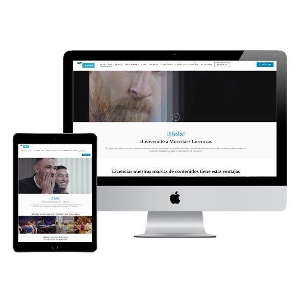 DISEÑO WEB MOVISTAR+ LICENCIAS